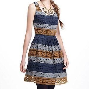 Anthro Maeve Striated Lace Dress size 4